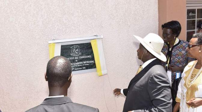 President Museveni Commissions New Public University In Arua