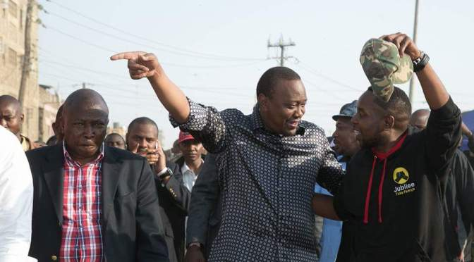 President Uhuru Kenyata Spends Day Hanging Out With His People