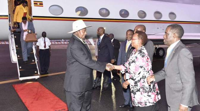 President Museveni Arrives In New York For The 71st United Nations General Assembly