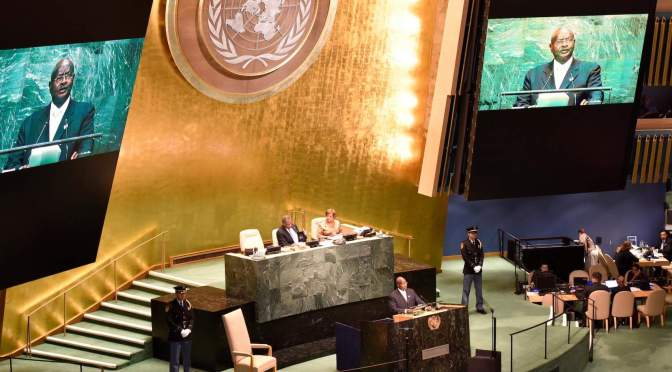 "PRESIDENT MUSEVENI'S STATEMENT AT THE UN GENERAL ASSEMBLY DEBATE ON ""The Sustainable Development Goals: A universal push to transform our world"" New York 20 September, 2016"