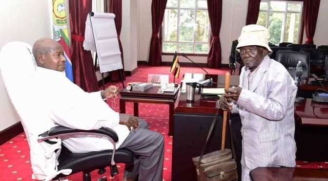 President Museveni Meets Oldest Ugandan Alive