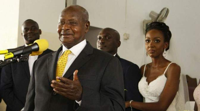 President Museveni Attends Edgar and Amber Wedding