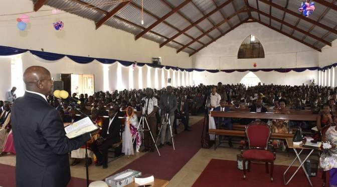 President Museveni Attends Christmas Prayers In Ntungamo
