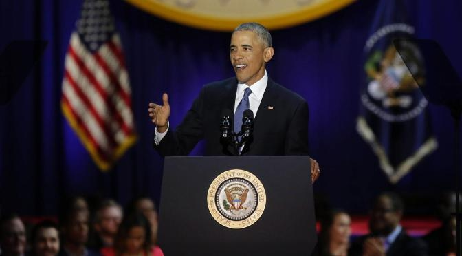 President Obama Delivers Touching Farewell Speech In Chicago