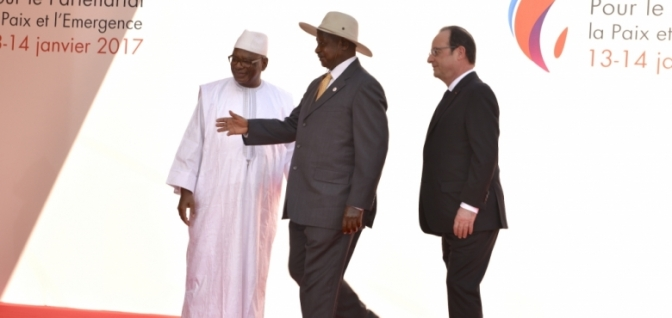 Uganda's President Yoweri Museveni Addresses The Africa-France Summit On Partnership, Peace and Emergency In Africa