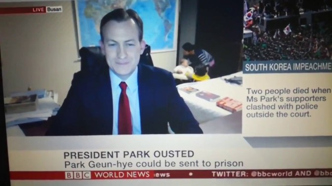 A Live BBC Discussion Gets Interrupted By The Interviewee's Children