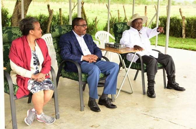 Prime Minister Hailemariam Desalegn In Uganda For A Three-Day State Visit