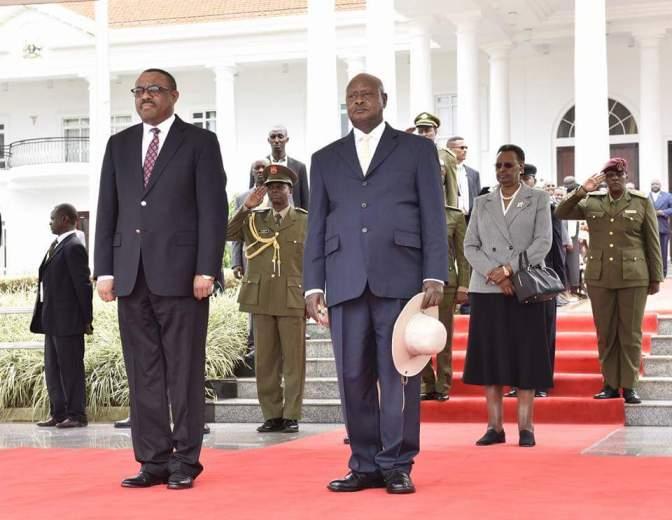 Ethiopian Prime Minister, Rt. Hon. Hailemariam Desalegn & Wife Roman On A Three-Day State Visit In Uganda